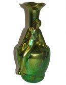 Zsolnay Pecs Art Nouveau Figural Vase