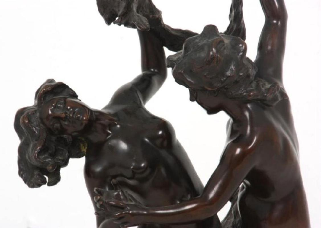 Italian Neoclassical Female Group Bronze After Giuseppe Ferrari (1773-1864)