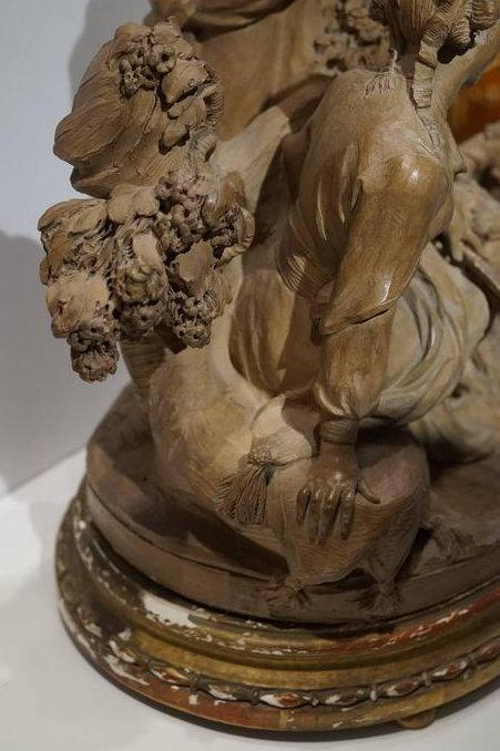Marchal 19th Century French Figural Chinoiserie Group Terracotta Sculpture