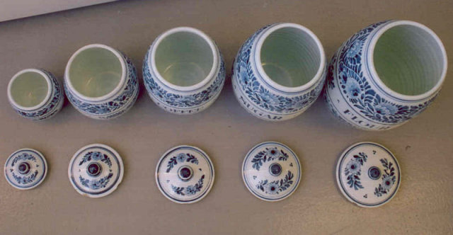 Collection (99) Oud Delft Spice Kitchen Jars
