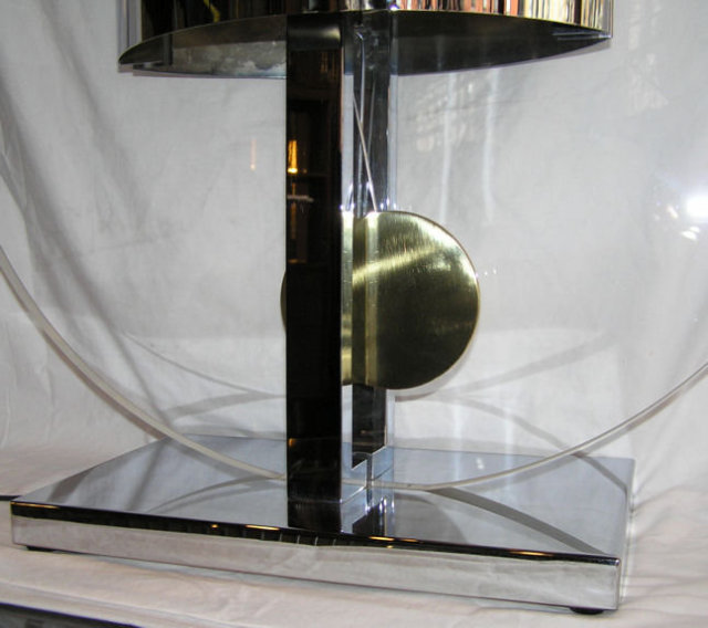Large Curtis Jere Lucite & Brass Table Lamp