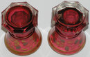 Pair Red Bohemian Spa Glasses