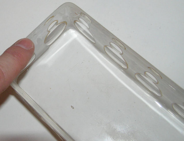 Antique Cased Glass Candy Dish or Box