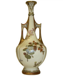 1883 Royal Worcester Reticulated Ewer