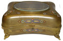 Antique Gilded Champleve Jewelry Box
