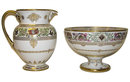 Sevres Fountainebleau Pitcher & Bowl