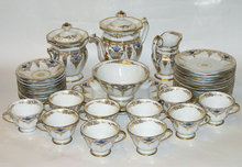 40-pc Paris Porcelain Coffee & Tea Service