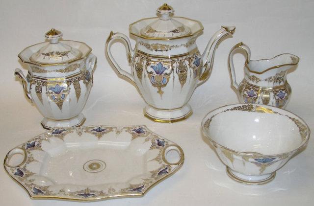 40-pc Paris Porcelain Coffee & Tea Service