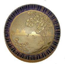 Nippon Gilt Porcelain Dresser Powder Box