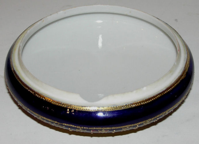 Nippon Gilt Porcelain Dresser Powder Box
