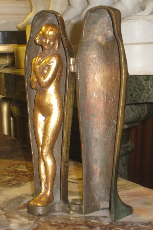 Egyptian Sarcophagus with Erotic Nude Figurine After Franz Bergman