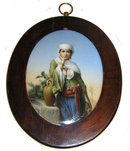 Orientalist Middle Eastern Porcelain Plaque