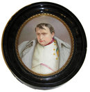 Porcelain Plaque Portrait of Napoleon