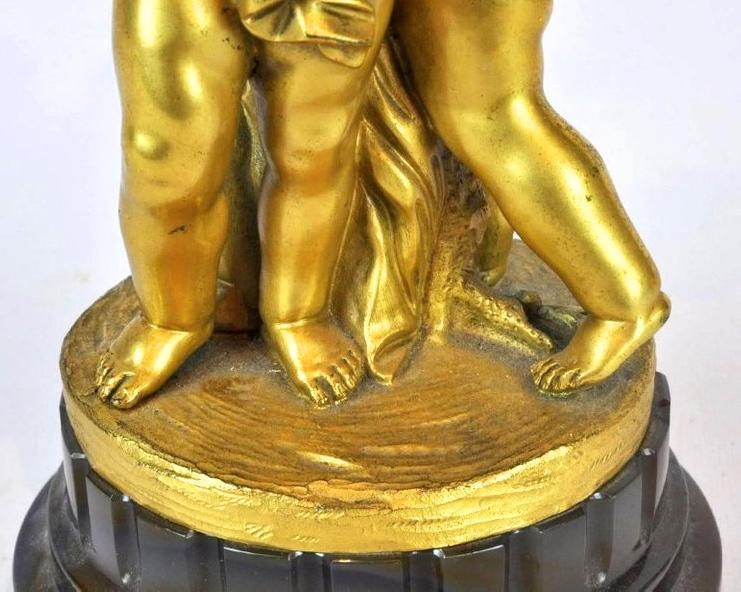 Pair Antique Louis XVI Style Gilt Bronze Candelabra After Jean-Louis Prieur