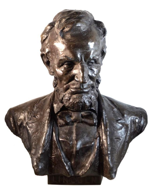 Abraham Lincoln Bronze Bust by Hans Muller (1873-1937)
