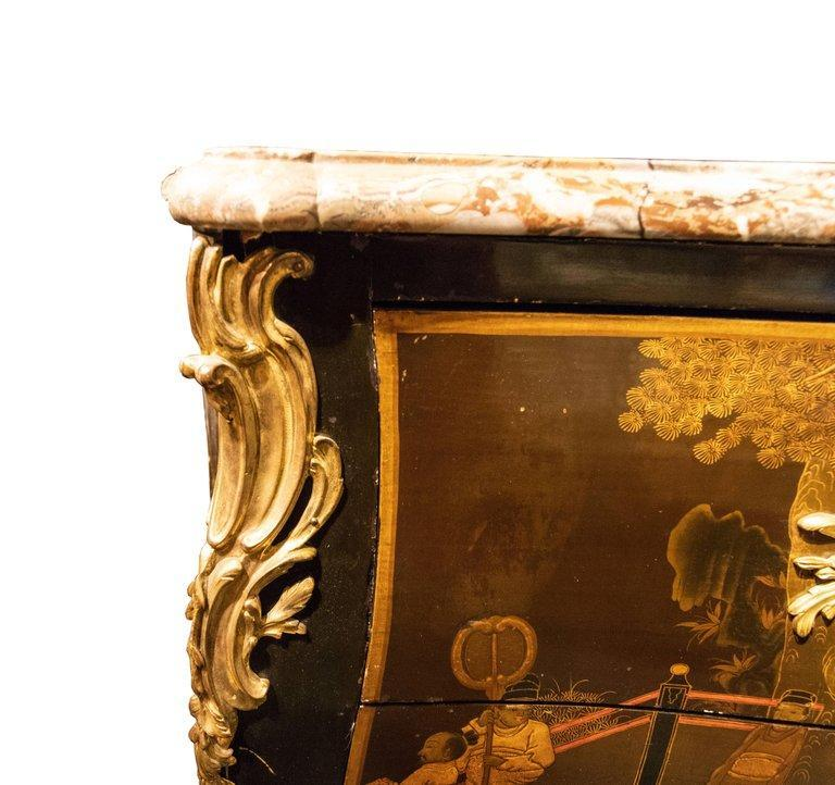 Louis XV Style Bronze Mounted Lacquered Commode by Jeanselme