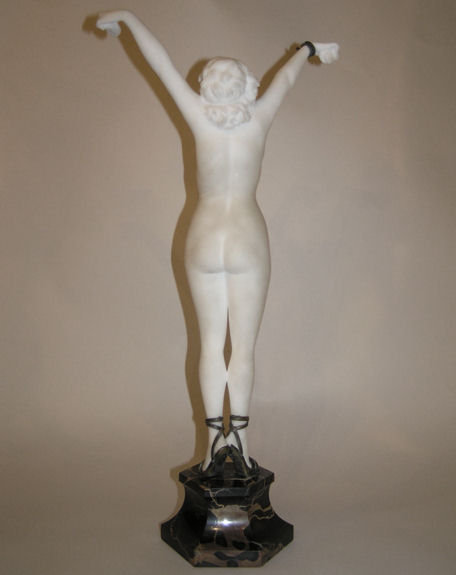 COLINET Art Deco Marble Figurine Sculpture