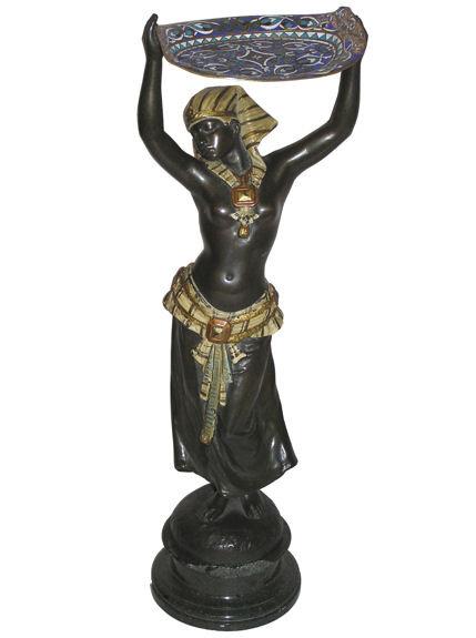 Bronze Egyptian Female Figurine Sculpture