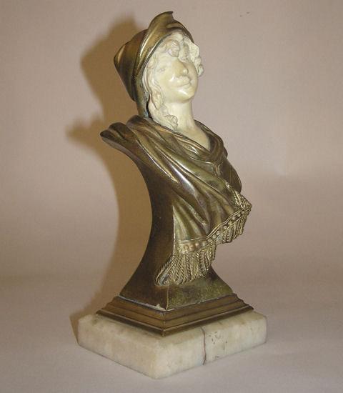 Georges FLAMAND Art Nouveau Bronze Bust