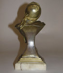 Georges FLAMAND Art Nouveau Bronze Bust