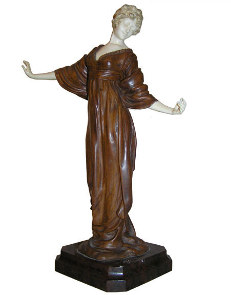 Paul PHILIPPE Wood Chryselephantine Figurine