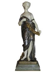 Antique Goddess Flora Bronze Sculpture