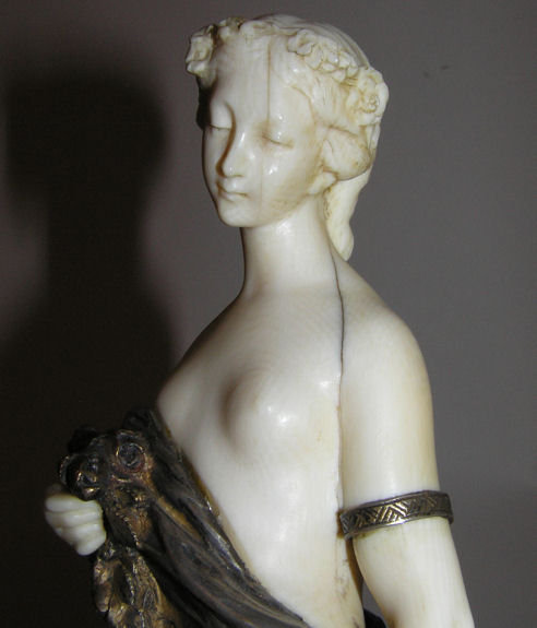 Antique Goddess Flora Bronze Sculpture