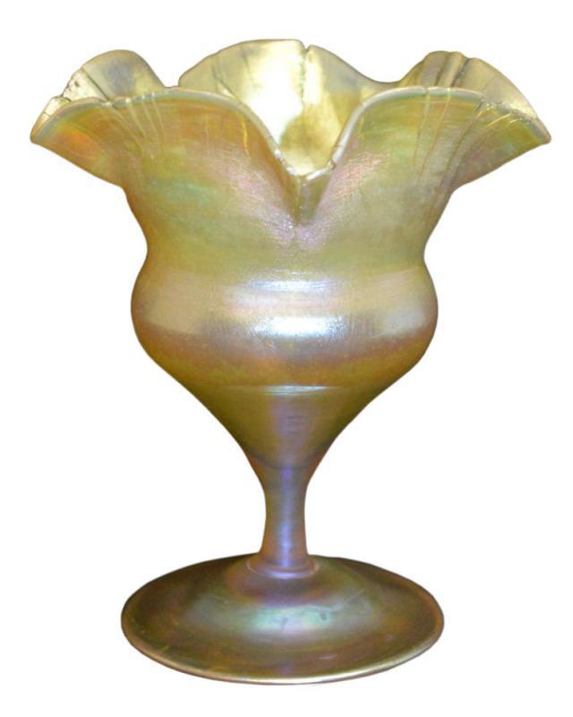 Tiffany Art Nouveau Period Favrile Glass Floriform Vase from 1905