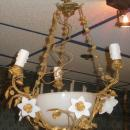 Petite Louis XV Style Gilt Bronze and Glass Chandelier