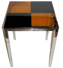 Gabriella Huseman  Amber Glass Side Table