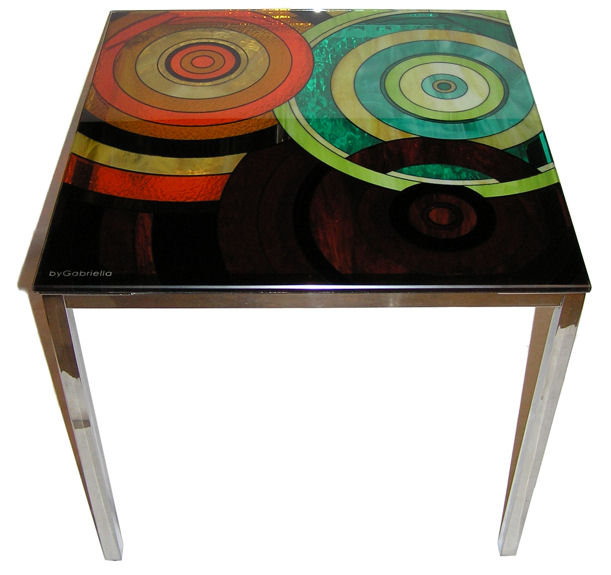 Gabriella Huseman Stained Glass Side Table