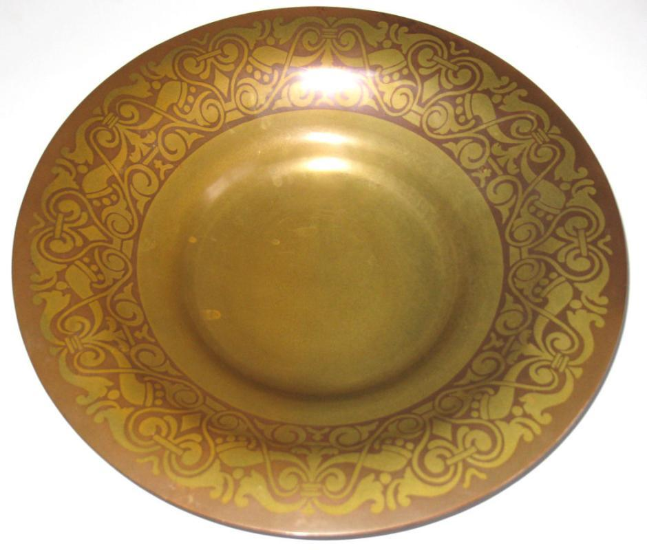 Antique Tiffany & Co. Gilt Bronze Plate / Charger