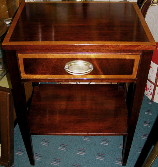 Pair Federal Regency Style Side End Tables