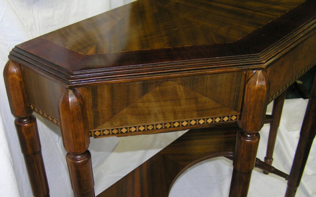 Art Deco Transitional Mahogany Console Table