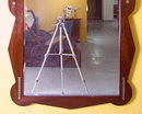 Vintage Art Deco Walnut Neoclassical Mirror