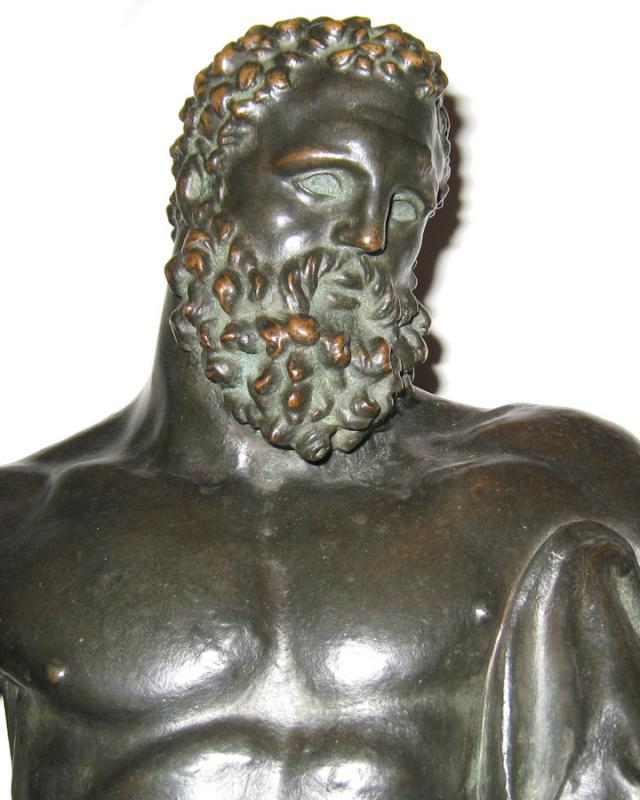Antique Early Grand Tour Bronze Sculpture of Hercules