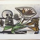 Nature Morte, Crane, Oursins et Oignon Aquatint After Picasso