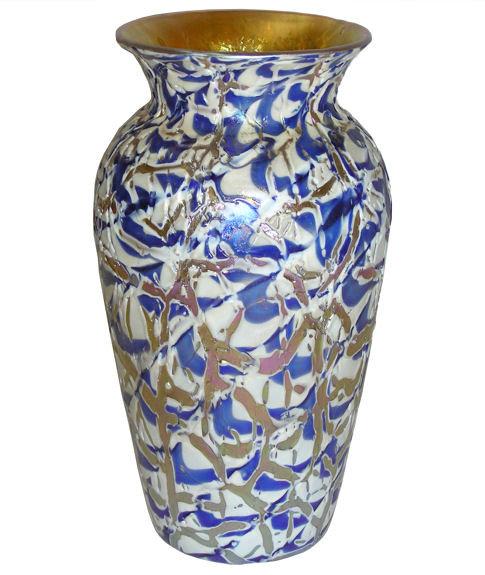 Durand Iridescent Crackle Glass Vase