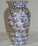 Durand Iridescent Crackle Glass Vase