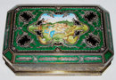 Gilt Enamelled Sterling Silver Dresser Box