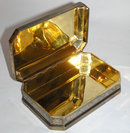 Gilt Enamelled Sterling Silver Dresser Box