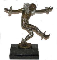 Art Deco TITZE Bronze Harlequin Figurine
