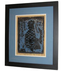 MILTON AVERY '53 Blue Rooster Woodcut Print