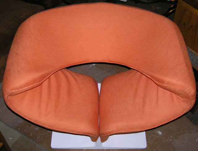 1960s Orange Pierre Paulin Ribbon Chair