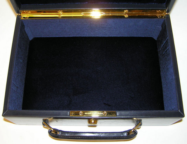 Hermes Leather Jewelry Travel Case