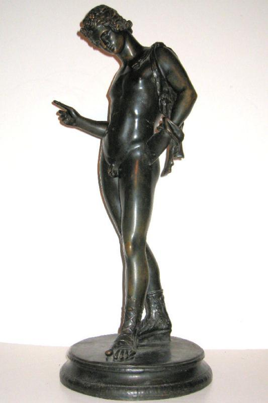 Barbedienne Bronze Sculpture of Narcissus After Gemito