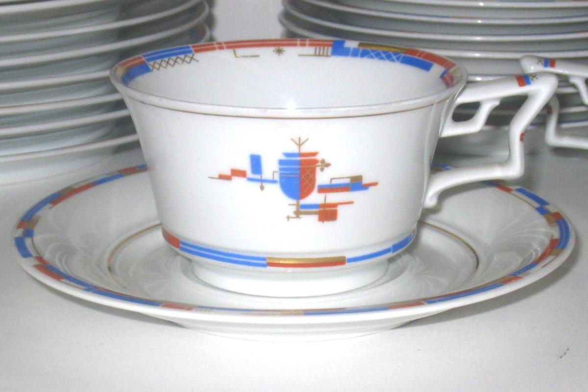 Rosenthal 50 Year Anniversary Art Deco Porcelain Coffee & Tea Service