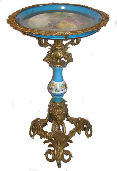 Antique French Sevres Style Porcelain Table