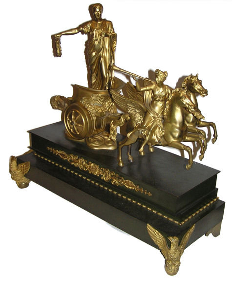 Victoire de Napoleon Gilt and Patinated Bronze Sculpture
