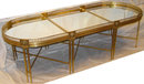 Empire Style Mirrored Plateau Bronze Coffee Table